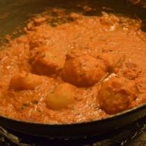 Baby potatoes enjoying in spa