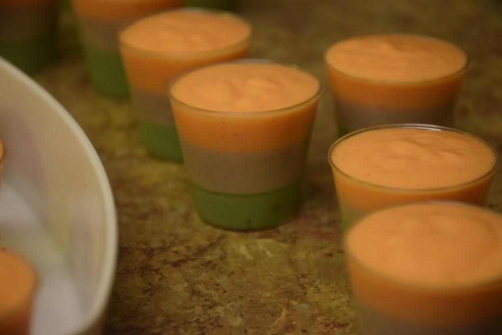 Tri-color souffle