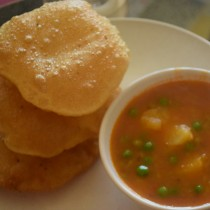 Served with puris