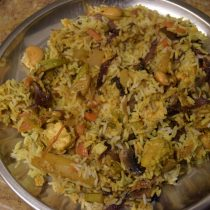 Veg Dum B ON stove