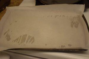 Line with parchment paper
