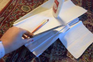 tissue paper and glue