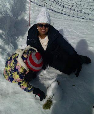 building snow man