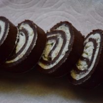Eggless chocolate swiss roll