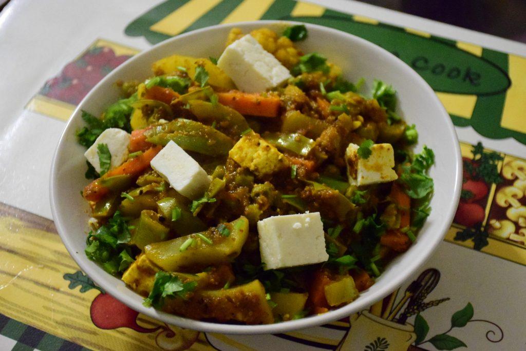 kolhapuri mix veg
